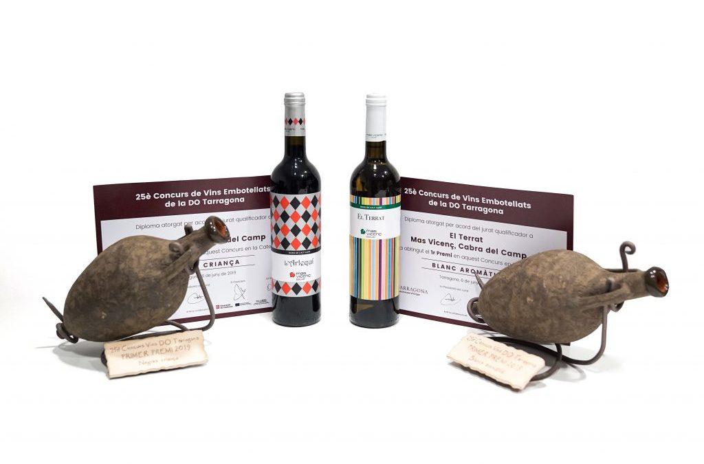 El Terrat et l'Arlequí sont nominés comme les meilleurs vins de la Do Tarragone 2019