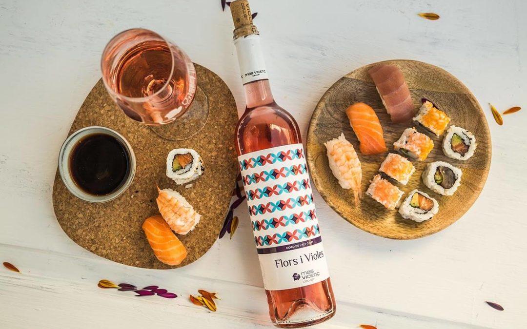 Maridajes de vino rosado: El Flors i Violes
